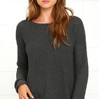 BB Dakota Tally Dark Grey Sweater