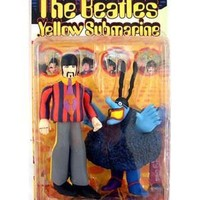 """The Beatles Yellow Submarine RINGO STARR with Blue Meanie 8"""" Action Figure (1999 McFarlane)"""