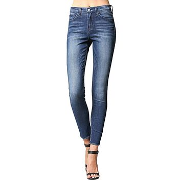 High Rise Ankle Skinny Jeans - Blue Moon