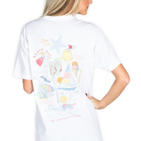 Lauren James: Beach Life Tee {White}