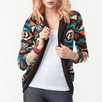 A'GACI Tribal Print Hacci Cardigan - New Arrivals