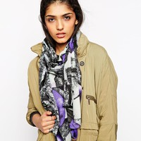Pieces Jine Oversized Floral Scarf
