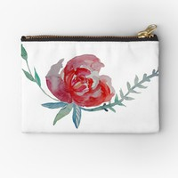 'Red Rose Watercolor art ' Studio Pouch by Manitarka