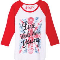 Live While We're Young Tee