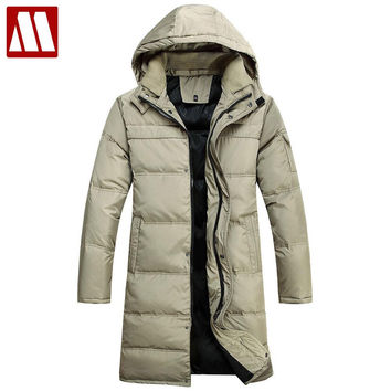 Coat Men Winter Jacket Men's Thicken 90% White Duck