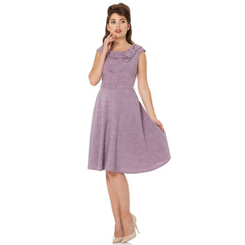 Voodoo Vixen Paige Heathered Flare Dress