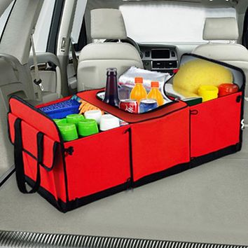 XL Universal Collapsible Car Storage - Trunk Organizer with Cooler