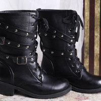 New 2016 Brand Lovers Martin boots Round toe High Fashion Black Shoes Women motorcycle boots Plus size 40,41,42