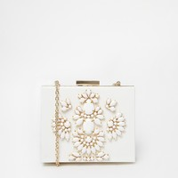 Skinnydip White Occasion Embellished Clutch