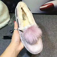 """UGG"" Winter Popular Women Comfortable Wool Warm Single Shoes Pink"