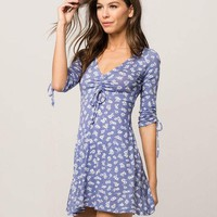 IVY & MAIN Floral Cinch Front Dress