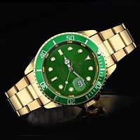 Rolex Ladies Men Trending Quartz Watches Wrist Watch Green G