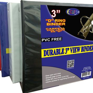 "Durable 3"" View Binder - CASE OF 8"