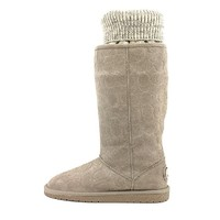 Coach Women's Georgia Signature Boot (Grey, 9.5)