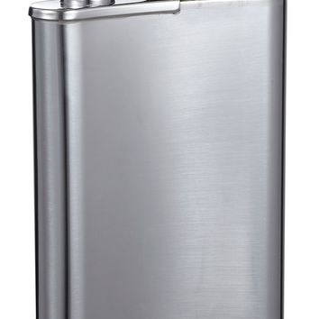 Visol Edian Stainless Steel 4oz Hip Flask with Built-in Cigar Holder