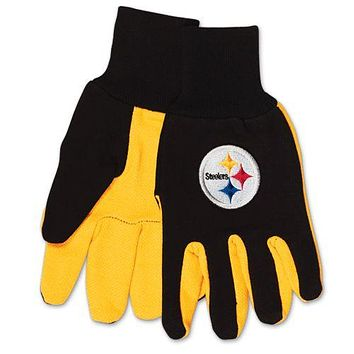 Pittsburgh Steelers Two Tone Adult Size Gloves