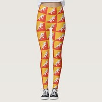 Leggings with flag of Bhutan