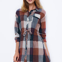 Cupshe Ghost Riders Plaid Shirt Dress
