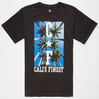 Cali's Finest Palm Trees Mens T-Shirt Black  In Sizes