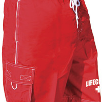 Mens Lifeguard Board Short Swimsuit