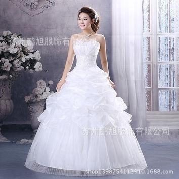 The latest style Wedding Dress Bridesmaid Dress Princess Dress bra Skirt slim Strapless skirt White Bride Wedding dress Full-length skirt = 1929539524