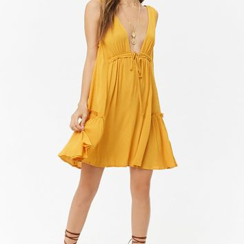 Sleeveless Crinkled Mini Dress
