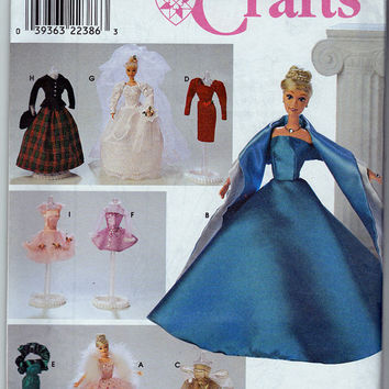 Pattern - Barbie Wedding Dress, Gown Simplicity 8481