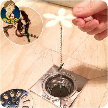1Pcs Shower Drain Hair Catcher Stopper Clog Sink Strainer Bathroom Cleaning Protector Filter Strap Pipe Hook F0509 MiChen