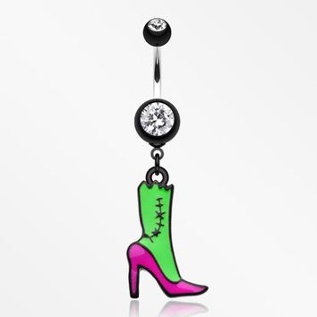 Lady Zombie Belly Button Ring
