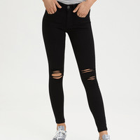 AE Denim X High-Waisted Jegging, Onyx Black