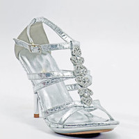 "Silver Shoes with 3"" heels and 1/2"" platform (Style 500-29)"