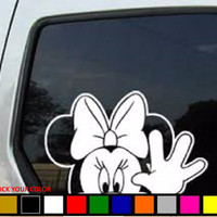 Minnie Mouse Vinyl Car Decal Sticker