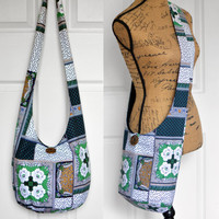 Hobo Bag Crossbody Bag Sling Bag Hippie Purse Boho Bag Bohemian Purse Slouch Purse Hippie Bag Hobo Purse Handmade Bag Patchwork Fabric Purse