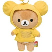 Rilakkuma bear plush charm hoodie color yellow - Cellphone Accessories - Accessories