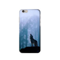 P0935 Wolf Howling in Forest Phone Case For IPHONE 6S