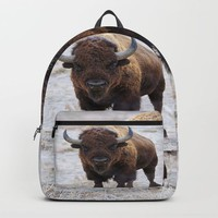 In The Presence Of Bison #society6 #decor #bison by Lena Owens @OLena Art by Lena Owens/OLenaArt