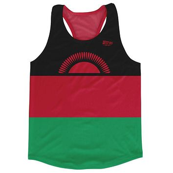 Malawi Country Flag Running Tank Top Racerback Track and Cross Country Singlet Jersey