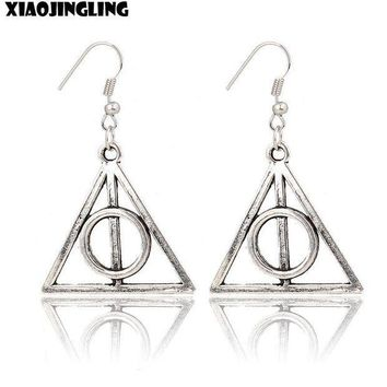 ESBONRZ XIAOJINGLING Vintage Harry Potter Earrings Fashion Jewelry Silver Planted Drop Earrings For Women Lady Retro Earing Party Gift