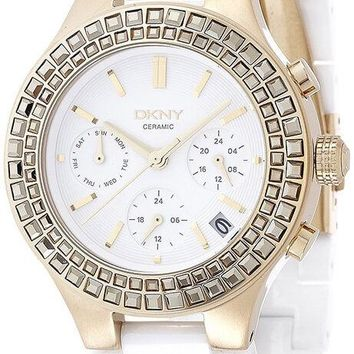 DKNY Chambers Multi-Funtions 38MM White Ceramic Women's Watch NY2224