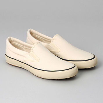 STANDARD SLIP-ON, NATURAL DUCK CANVAS :: HICKOREE'S
