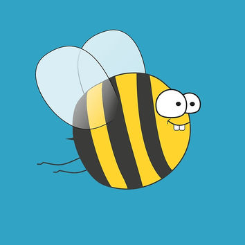 'Cool & Crazy Funny Bee / Bumble Bee (Sweet & Cute)' by badbugs