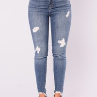 Enjoy Right Now Ankle Jeans - Medium Denim