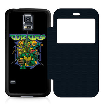 Ninja Turtles Movie Leather Wallet Flip Case Samsung Galaxy S5