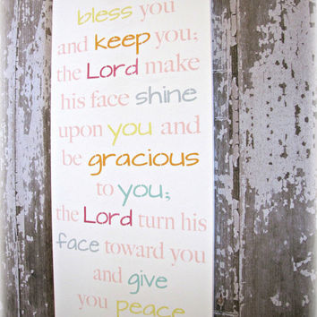 Blessing of Aaron Christian Wall Decor  Antiqued by cellardesigns