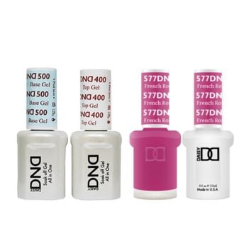 DND - Base, Top, Gel & Lacquer Combo - French Rose - #577