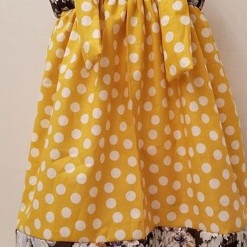 Spring Polka Dot Knot Dress