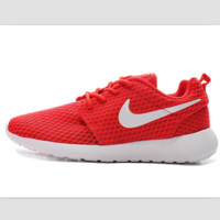 NIKE Roshe Run cellular breathable running shoes Red and white