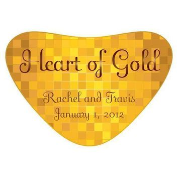 Heart of Gold Heart Container Sticker (Pack of 1)