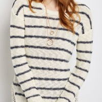 Striped Crochet Vent Sweater | Sweaters | rue21