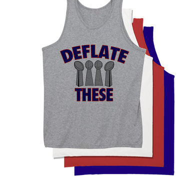 Deflate These Tank Top | Deflate Gate Patriots Super Bowl Champions Deflate Deez Nuts
